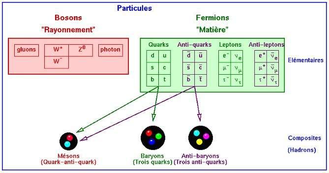 Les particules élémentaires du modèle standard. © Crédits réservés