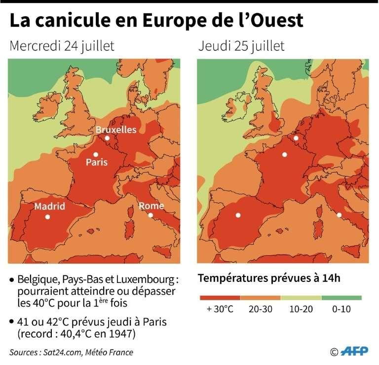 La canicule s'installe en France et en Europe de l'Ouest. © AFP