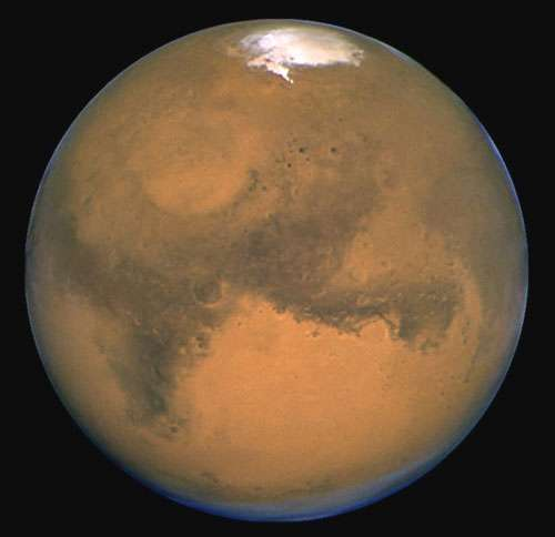 Mars vue par le télescope spatial Hubble. © Nasa, télescope spatial Hubble - Reproduction et utilisation interdites