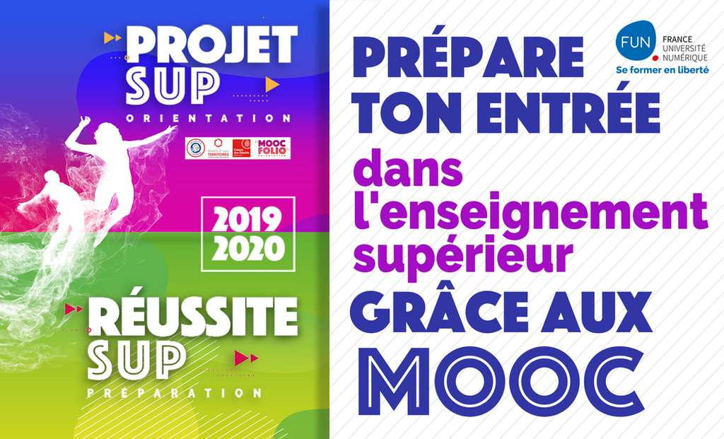 Les deux collections de Mooc sur l'orientation proposées par FUN. © France Université Numérique