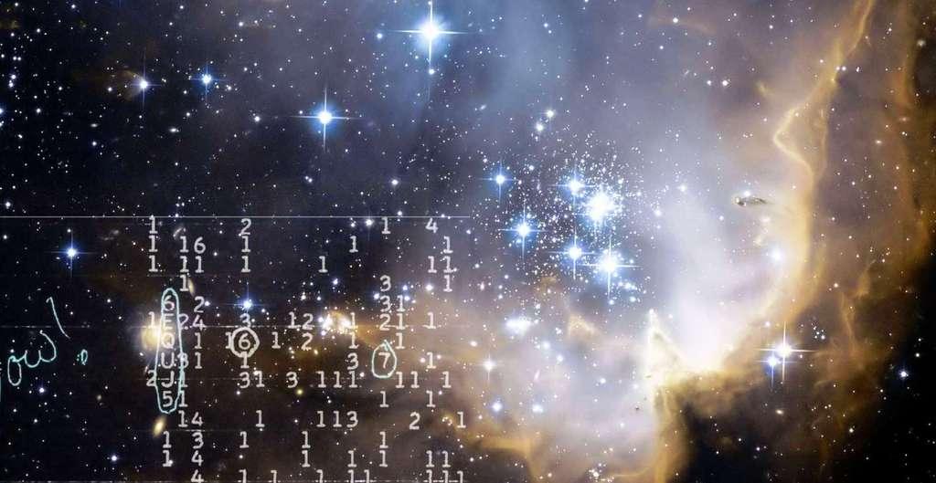 """Une vue artistique du signal """"Wow!"""". © WikiImages - CCO"""