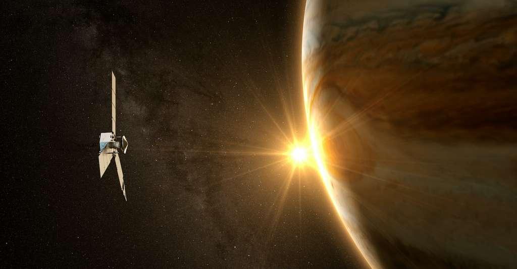 La sonde Juno s'apprête à faire un survol rapproché de Ganymède, la plus grande lune de Jupiter. © janez volmajer, Adobe Stock