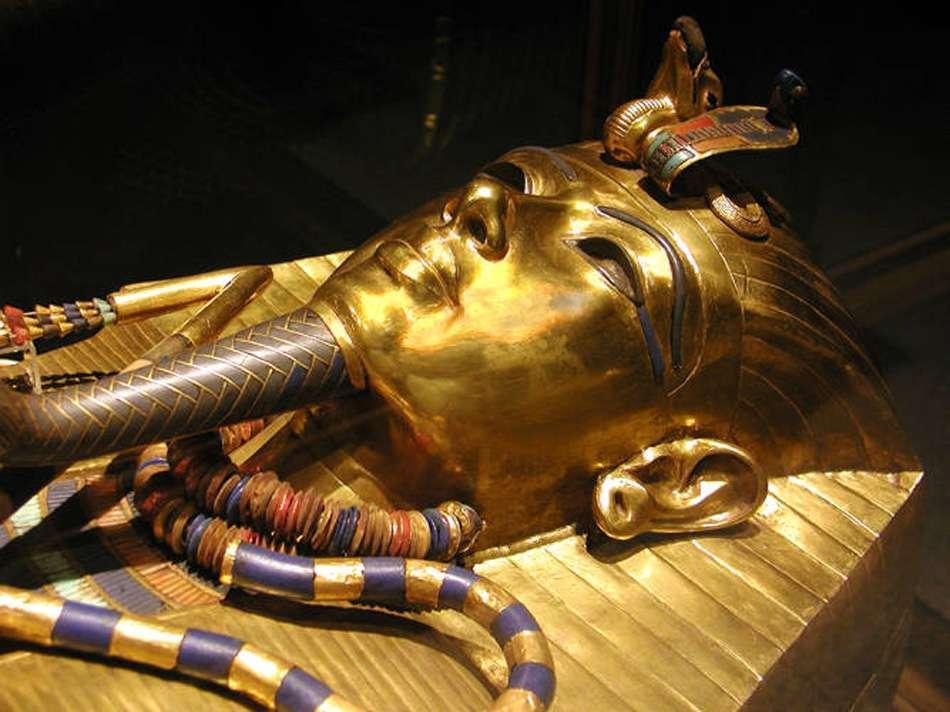 Le cercueil en or de Toutânkhamon
