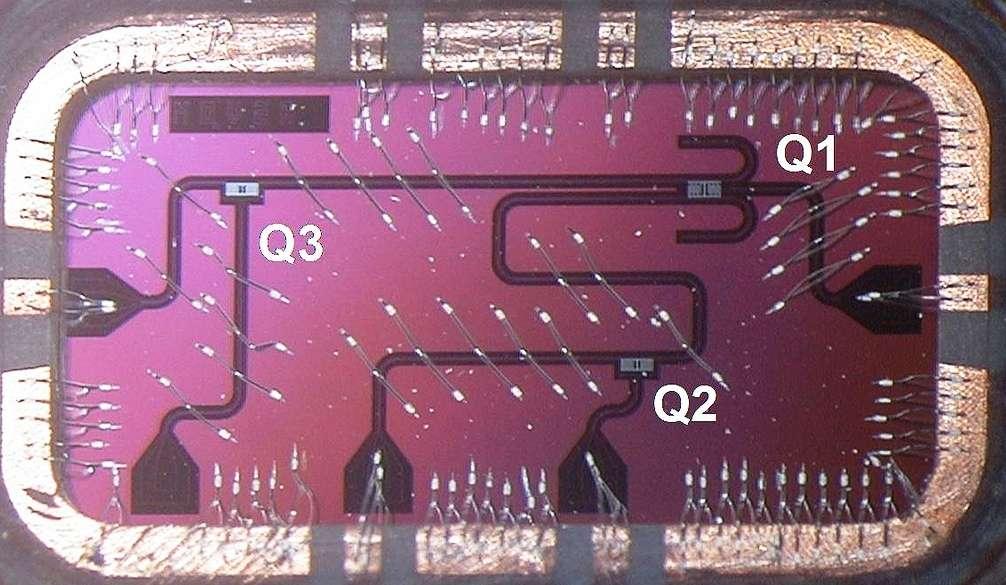 La porte logique quantique utilisée dans le circuit supraconducteur 2D des chercheurs d'IBM. © IBM Research