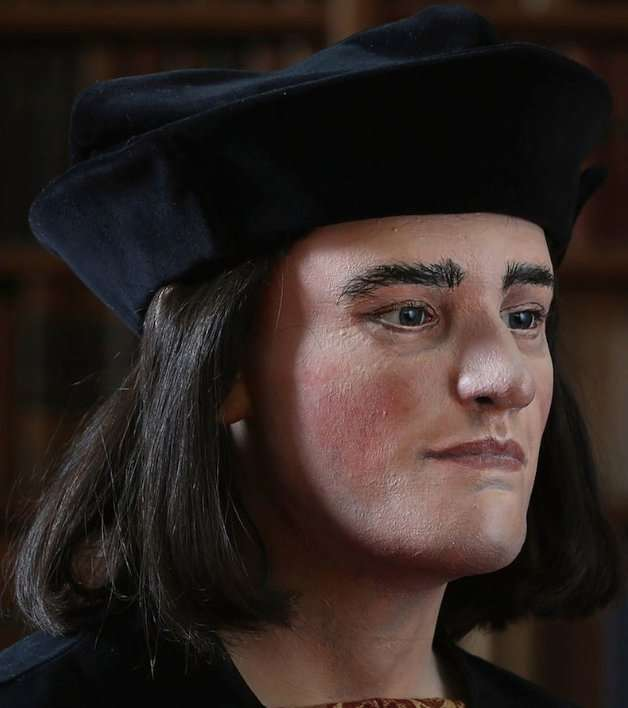 À partir du crâne exhumé, des experts de l'université de Dundee ont reconstitué le visage du roi, désormais visible sur le site de la Richard III Society. Son allure est bien plus avenante que le portrait qu'en a fait Shakespeare (acte I, scène 1, première tirade de Gloucester). © Getty