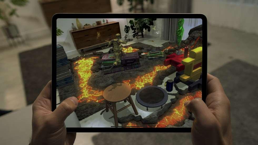 Le Lidar intégré dans l'iPad Pro permet déjà des applications de réalité augmentée. © Apple