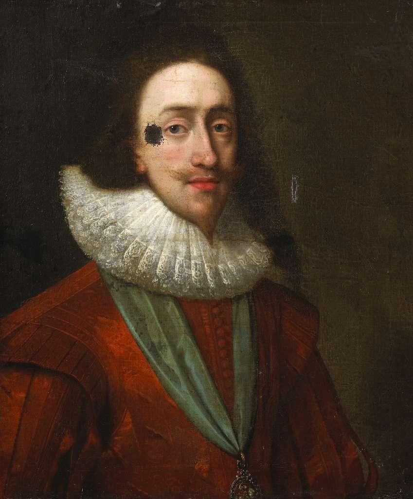 Portrait de Charles Ier d'Angleterre, huile sur toile de Daniel Mytens, 1630. © Wikimedia Commons, domaine public.