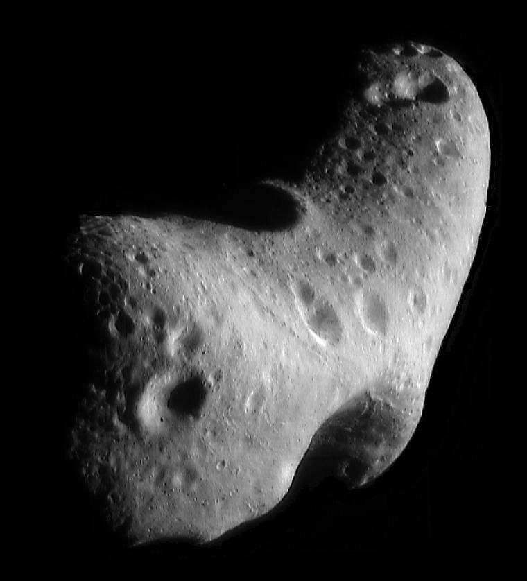 Eros est un astéroïde de type S. © Nasa