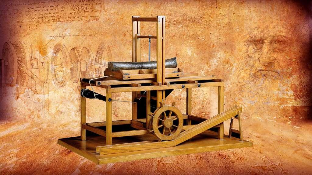 La scie hydraulique et sa roue à godets