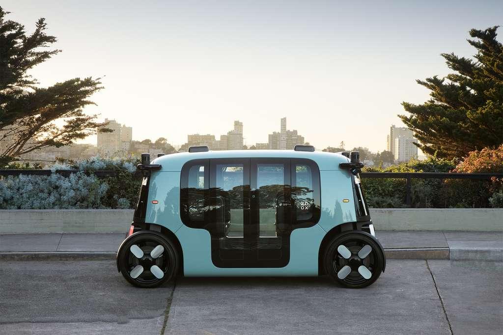 Le taxi autonome Zoox est bidirectionnel. © Zoox