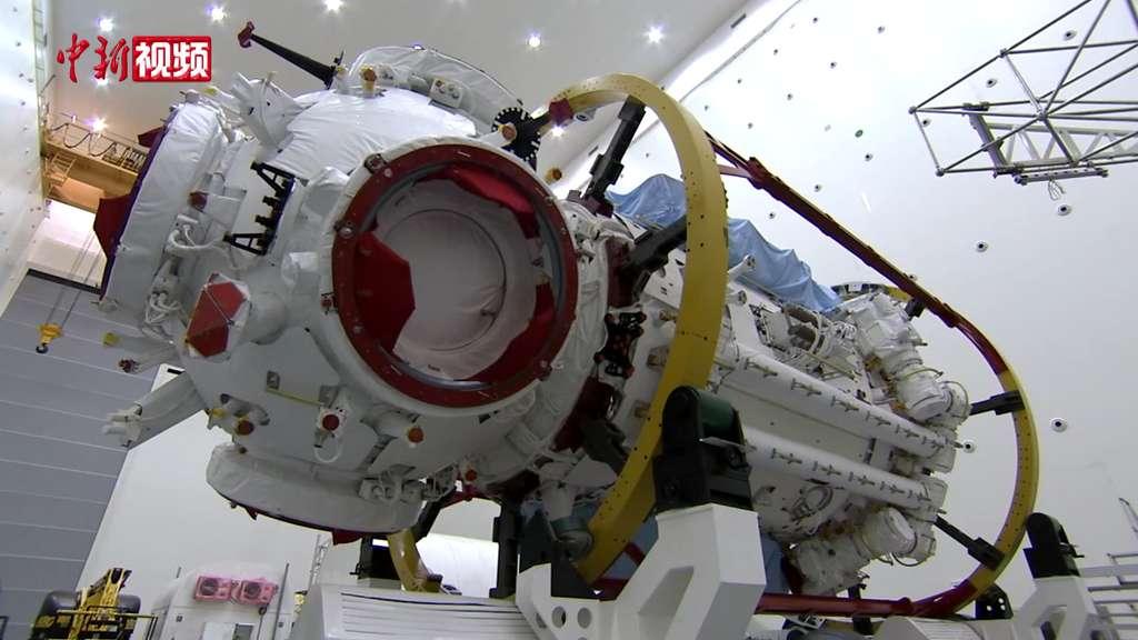 Le module principal Tianhe avant son lancement. © CNSA, CCTV