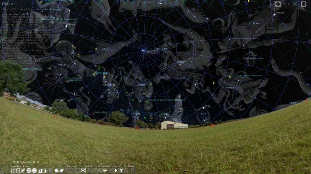 Stellarium est un logiciel de planétarium avec un catalogue d'objets célestes très complet. © Stellarium.org