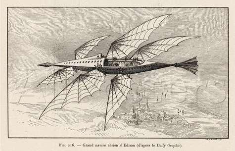 L'« ornithoptère » d'Edison. © D'après le Daily Graphic