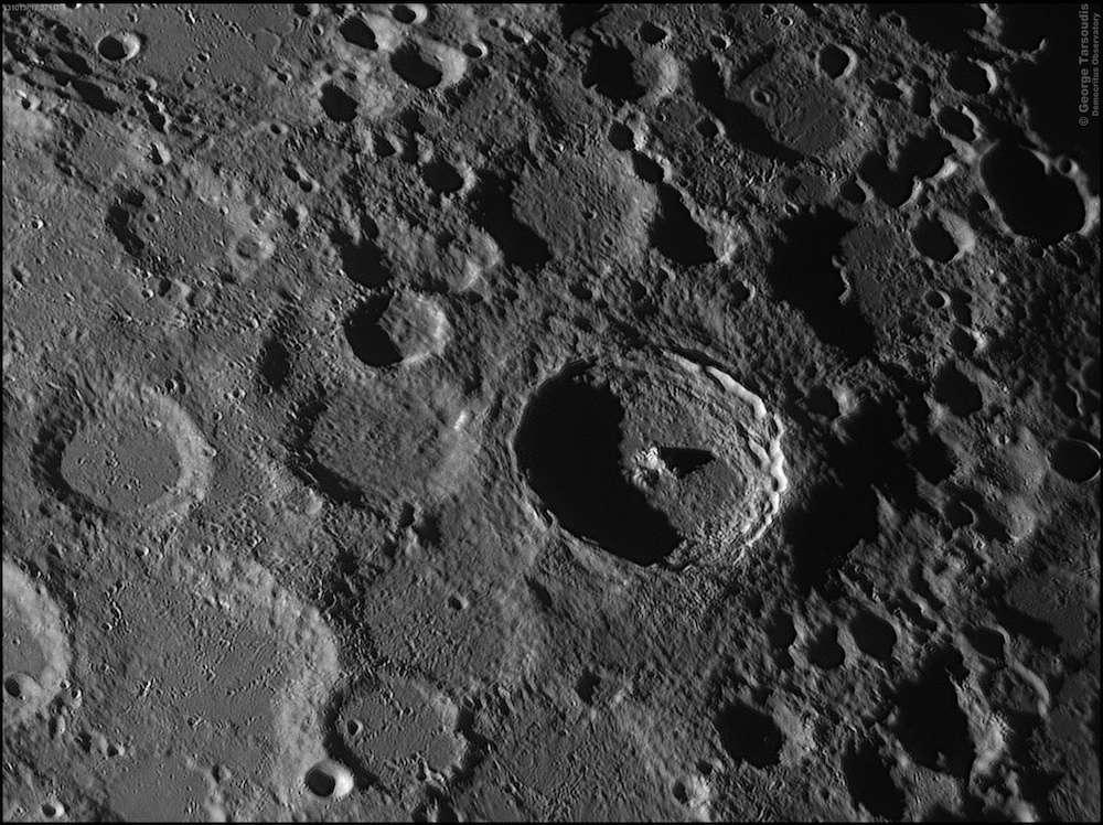 Cratères lunaires, dont le cratère Tycho
