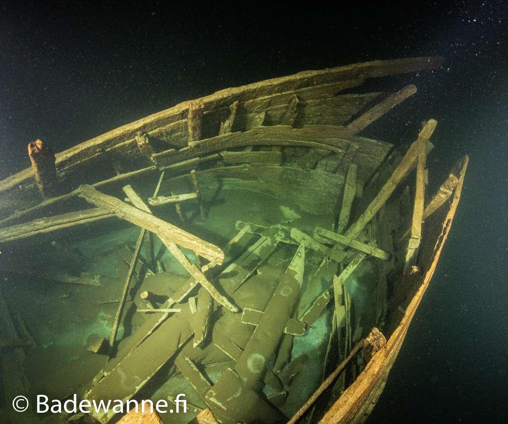 La cabine principale, située à la poupe, était partagée par l'ensemble de l'équipage sans distinction de rang. © Badewanne Explorations