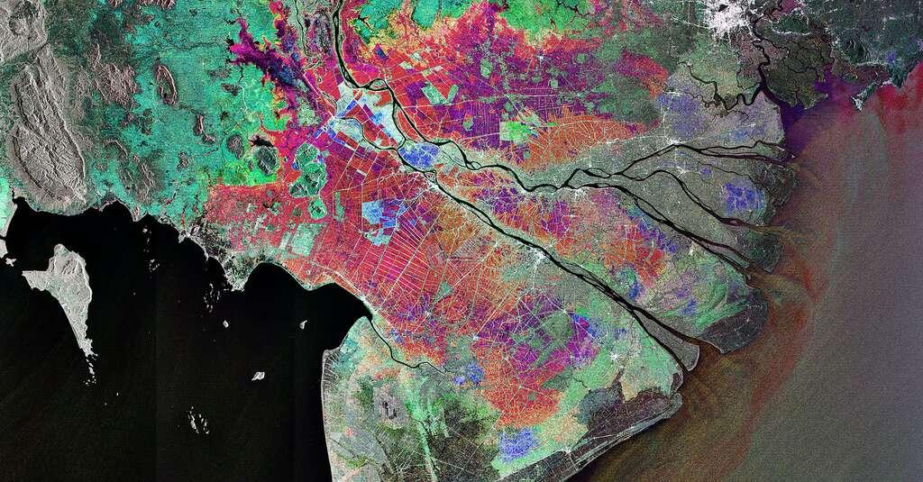 Delta du Mékong. © ESA, Wikimedia commons, CC 3.0-igo