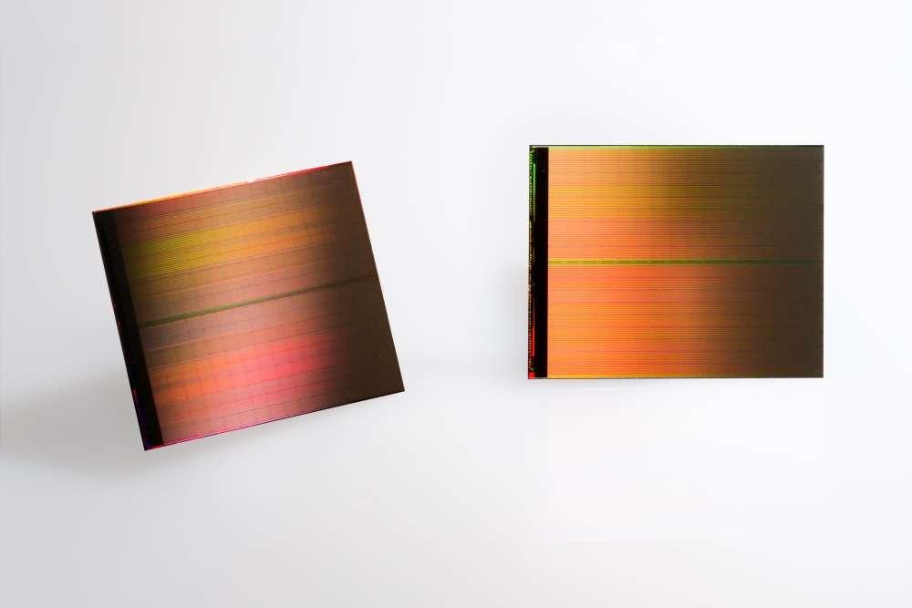 La technologie 3D XPoint est annoncée comme mille fois plus rapide et durable que la NAND. Un seul de ces circuits peut stocker 128 Go de données. © Intel
