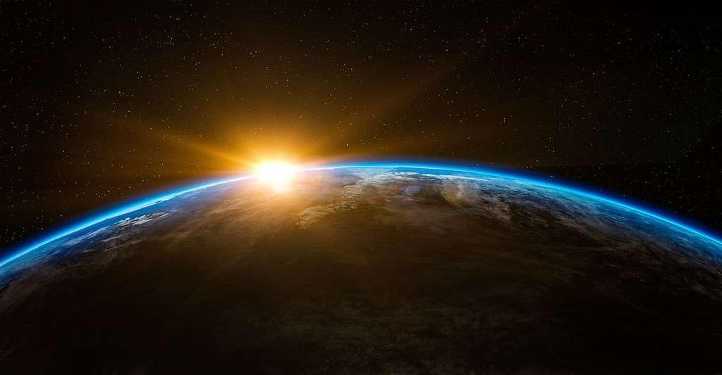 Coucher de soleil sur la Terre. © Qimono, CCO