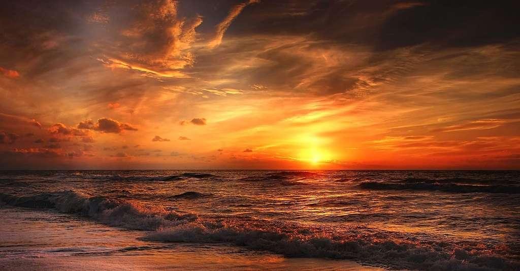 Coucher de soleil. © Kordi Vahle, Pixabay, DP