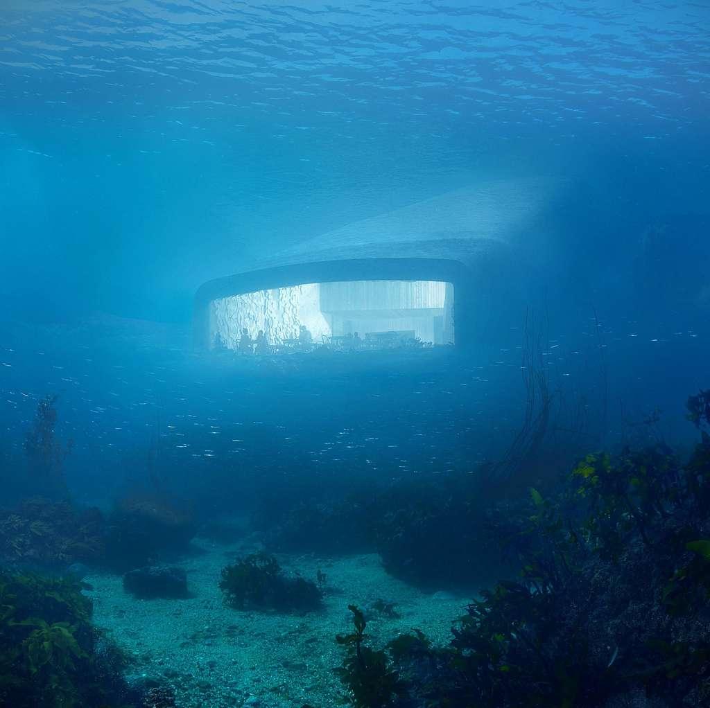 Under, le premier restaurant sous-marin d'Europe. © Snøhetta