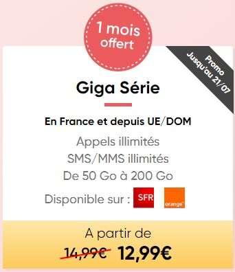 Forfait mobile illimité Giga Série chez Prixtel ! ©Prixtel