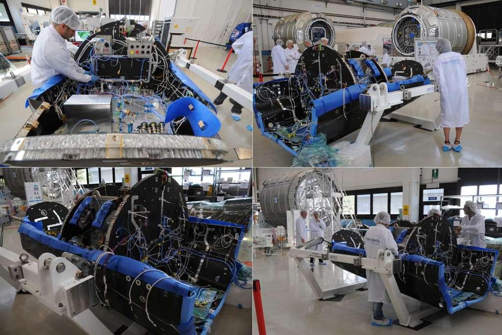 Le démonstrateur expérimental de véhicule de rentrée atmosphérique IXV est en développement chez Thales Alenia Space dans son usine de Turin, en Italie. On voit ici le tronçon avant de l'engin (en juillet 2013). La partie arrière, en cours de construction chez Ruag (Suisse), sera livrée en octobre, date à laquelle Thales l'intégrera au reste du démonstrateur. © Rémy Decourt, Futura-Sciences
