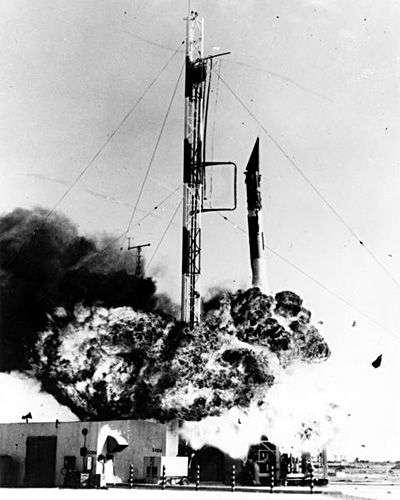 Explosion du lanceur Vanguard. Crédit Nasa