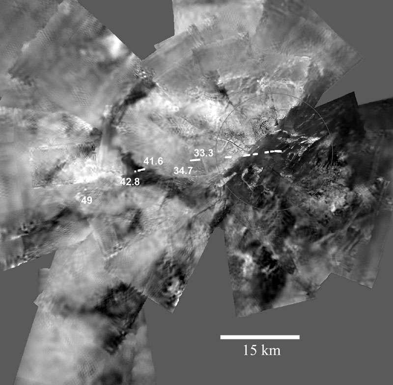 Panorama de Titan à 35 km