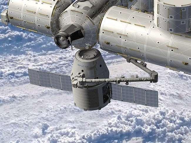 Malgré le désaccord entre les agences spatiales américaine et russe, le lancement de Falcon 9 et de la capsule Dragon est toujours prévu le 30 novembre et l'amarrage à l'ISS neuf jours plus tard. © SpaceX