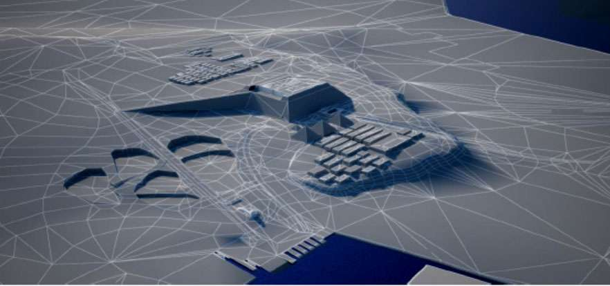 Simulation du plateau de Gizeh. © Dassault Systèmes