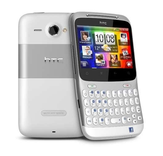 Le ChaCha, de HTC, premier smartphone badgé Facebook. © HTC