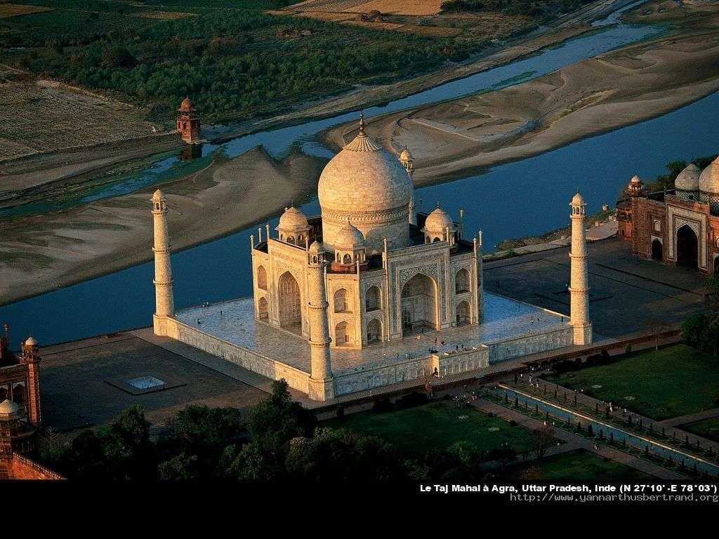 Le Taj Mahal à Agra, Uttar Pradesh, Inde