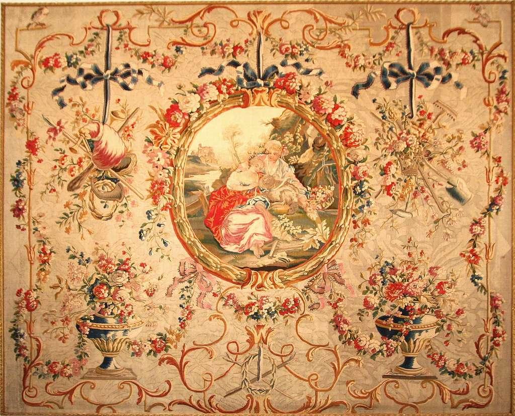 Tapisserie en laine de la manufacture royale d'Aubusson d'après un carton de Jean-Baptiste Huet (1745-1811) réalisé vers 1786. Visible dans le grand salon du musée Grobet-Labadié, à Marseille. © Robert Valette, GNU