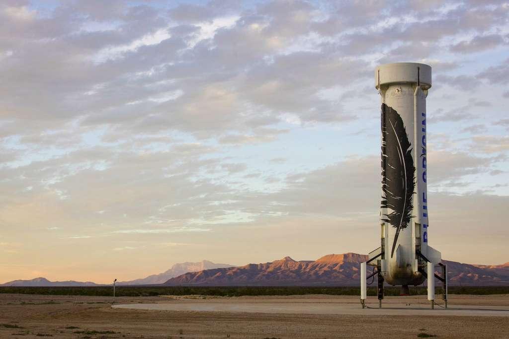 Le lanceur suborbital de retour de son vol d'essai. © Blue Origin