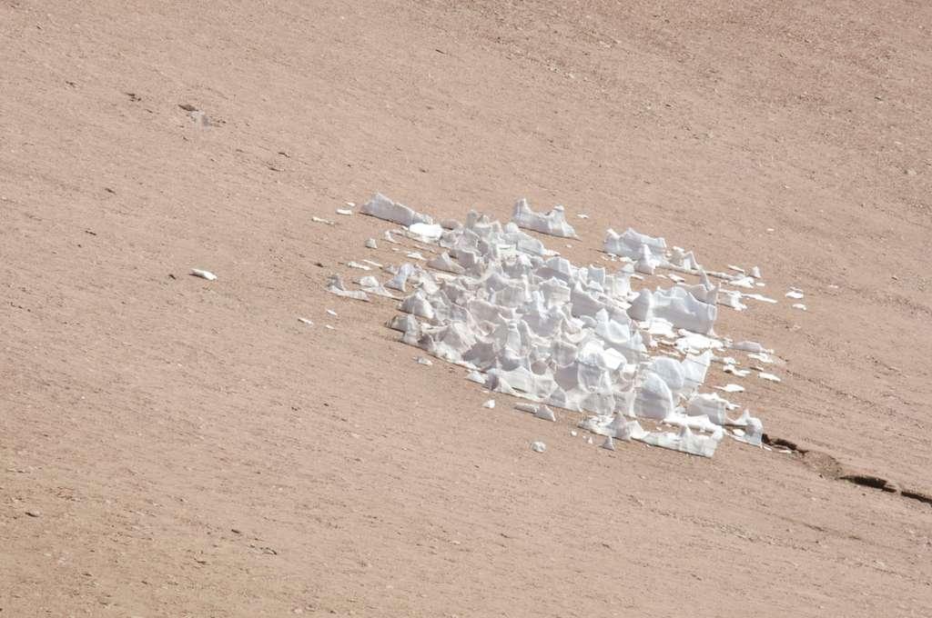 De la glace au milieu de l'Atacama