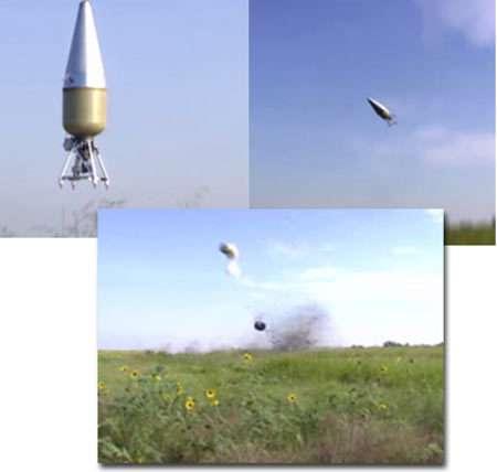 © Armadillo Aerospace - Après un décollage correct, le prototype d'Armadillo Aerospace s'est écrasé au sol