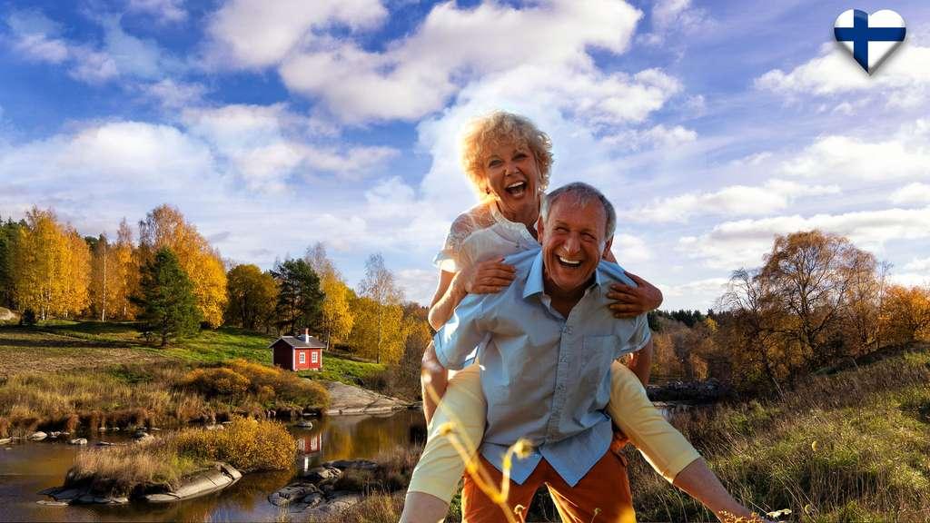 En Finlande, le porter de femmes pour la Saint-Valentin