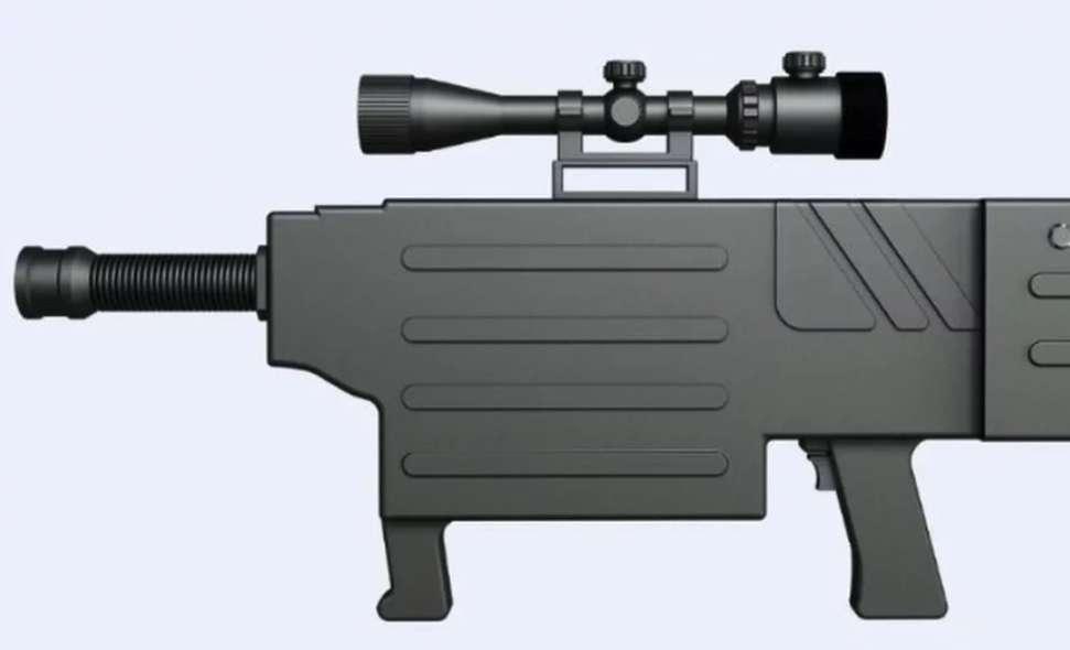 Sans un bruit, ni couleur, le faisceau laser du fusil d'assaut ZKZM-500 peut brûler du textile, la peau et passer au travers des matériaux transparents à une distance de 800 mètres. Avec ses 3 kg, batterie incluse, il pèse moins lourd que la fameuse AK-47. © ZKZM