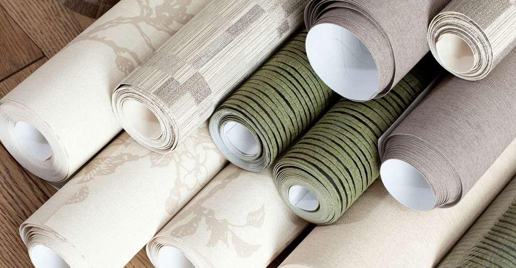 Rouleaux de papiers peints, imprimés ou à peindre. © TMakotra, Fotolia