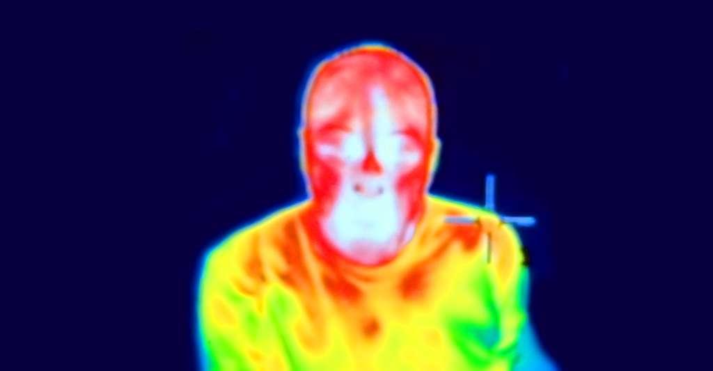 Visage vu en infrarouge. © Fæ, CC by-sa 3.0