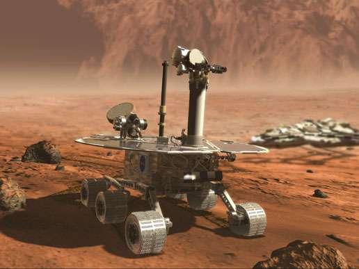 Un rover vu par un artiste