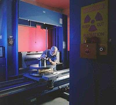 Très semblable à celui de Canoga, ce scanner géant est installé au Centre Spatial Kennedy en Floride. Crédit Nasa.
