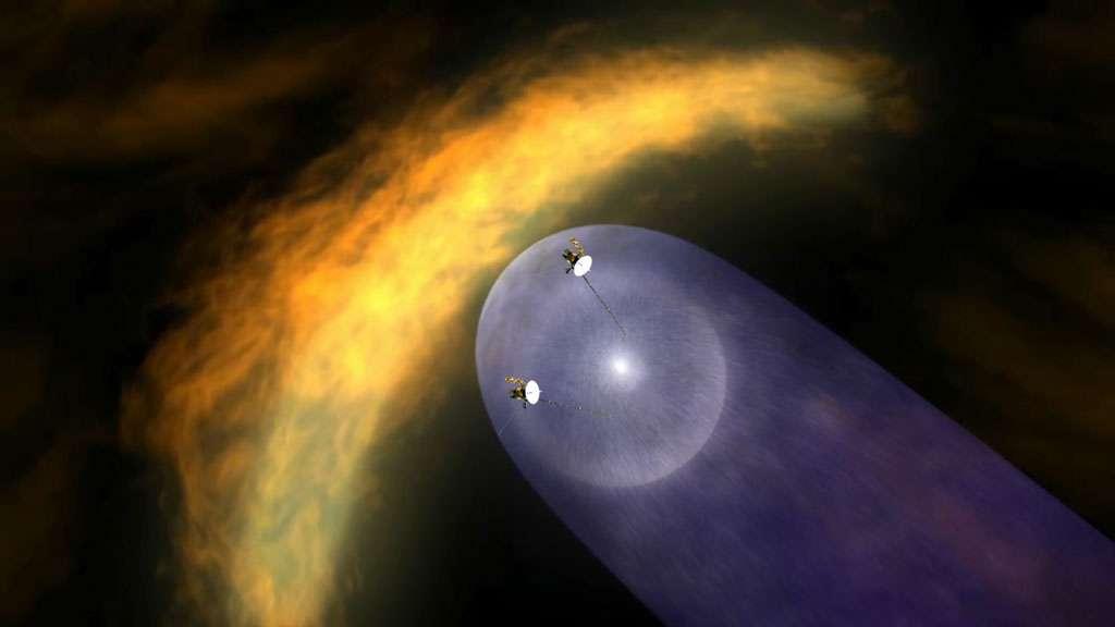 L'héliopause, aux confins de la zone d'influence du Soleil