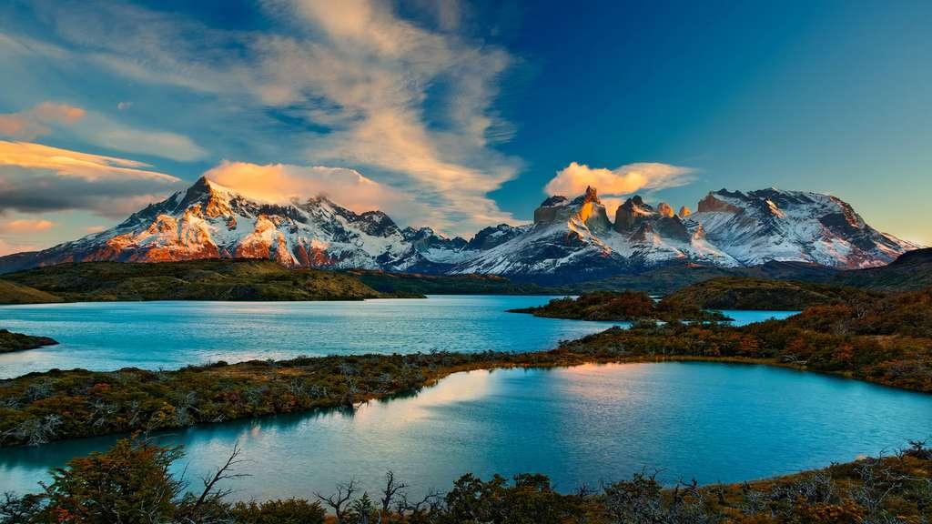 En Patagonie : le lac Pehoé et ses eaux cristallines