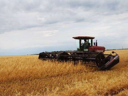 Le machinisme, les engrais ou encore l'élevage hors sol ont considérablement augmenter la production agricole. © Owacle, domaine public