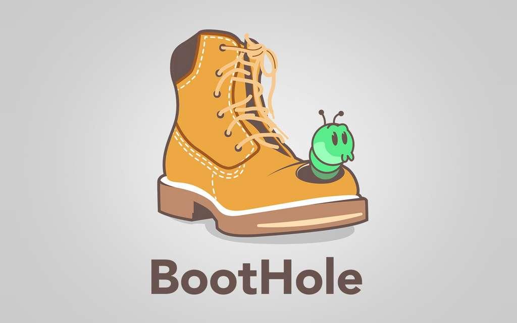 Cette faille grave est déjà dotée d'une illustration amusante, BootHole pouvant se traduire par « une faille au démarrage » mais aussi « un trou dans la botte ». © Eclypsium