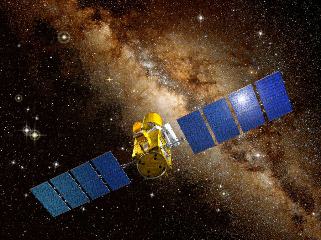 Lancé en 2006, Corot fut le premier télescope en orbite destiné à la recherche d'exoplanètes, notamment rocheuses. Le satellite fut désactivé en 2014. © Cnes, D. Ducros