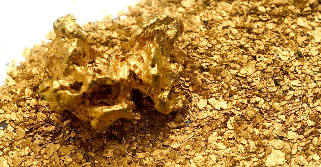 Pour la récupération de l'or, des techniques de lixiviation à l'aide d'une solution de cyanure peuvent être mises en œuvre. © Gilles Paire, Adobe Stock