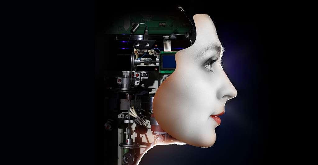 Quels sont les enjeux de la robotique ? Ici, visage d'une femme robot. © Olga Nikonova, Shutterstock