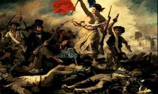La Liberté guidant le peuple, célèbre tableau d'Eugène Delacroix, 1831. © Domaine public